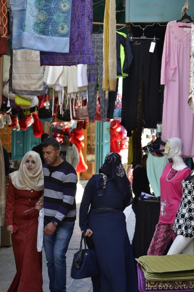 Pedestrian market in Bethlehem